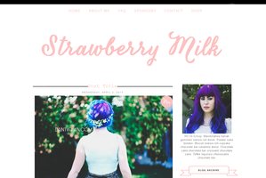 Strawberry Milk Blogger Template by tiny-moon