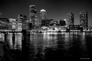 Boston After Dark I by MyLifeThroughTheLens