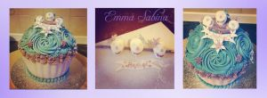 Skull cupcake by EmmaSabina