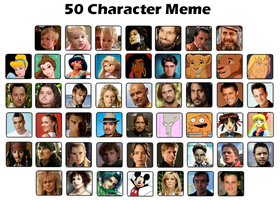 50 Character Meme by FalseDisposition