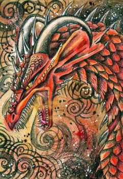 Red scales by Deygira-Blood