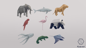 Low Poly Animals by KilianF