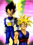 Vegeta and Son Gohan by BLACKNIGHTINGALE81