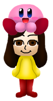RQ Sarah Mii Wearing The Kirby Hat by Misskatt66