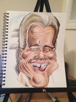 Process: Arnold Schwarzenegger Caricature 5 of 10 by AcrylicInk
