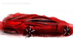 BMW design sketch by auto-concept