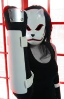 Anbu Mask and gloves by Dominiquefx