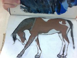 WIP Traditional Painting by EquideDesigns