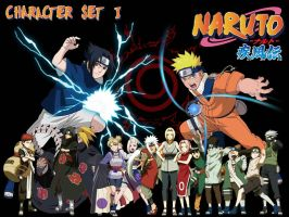 Naruto Character Set I by The-Lonely-Wolf