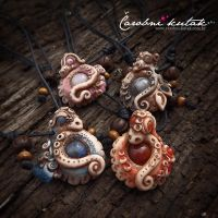Dragon pendants by kosijenka