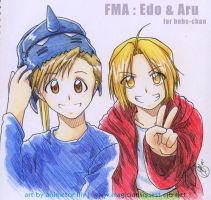 FMA : Edo and Aru by Zue
