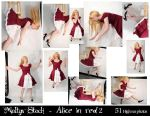 Alice in red -Exclusive pack 4 by Meltys-stock