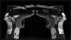 The Punisher guns by NeroWulf