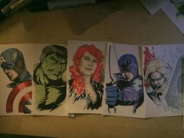 Incomplete Set of Avengers by CrazyBluePsychopath