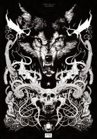 Wicked Wolf- Ink version by andybrase