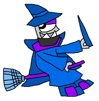 Magnifo as a Sorcerer for Halloween Vector by PogorikiFan10