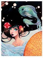Koi Japan Relief Art by Flying-Fox