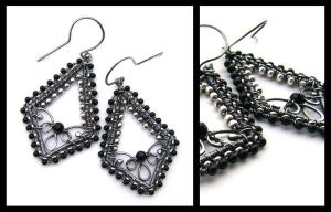 silver onyx earrings by annie-jewelry