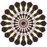 Repeat Mandala Coloured Copy by WelshPixie
