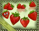 Strawberries Vector by roula33