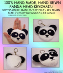 FOR SALE: Hand Made PANDA Plush Keychain by izka197
