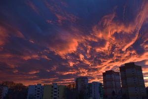 she painted fire across the skyline by paul-masvidal