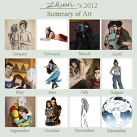 Zutara's 2012 Year of Art by ZuTarart