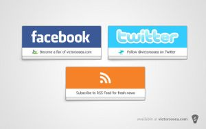 Social Buttons Free PSD by victorsosea