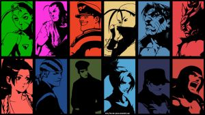 Street Fighter x King Of Fighters Wallpaper(Ver.A) by The-Red-Jack03