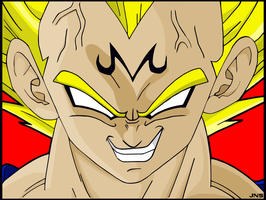 Vegeta Majin Color by Sauron88