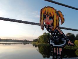 Misa Amane watching the Sunset by cracklebyte
