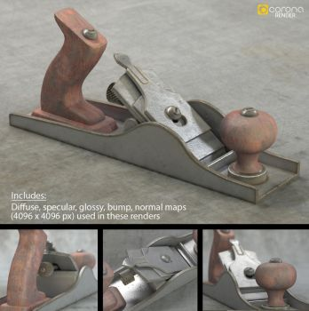 Realistic Wood Plane (Free 3D Model) by LuxXeon