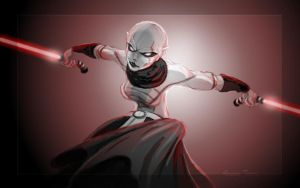 Asajj Ventress Sketch by lifebytes