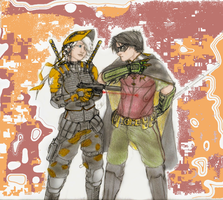 Ravager and Robin by DeanLeoWinchester