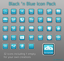 Black n Blue icon pack by Rainman51