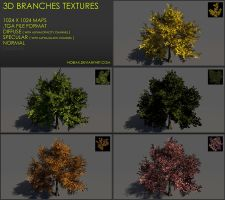 Free 3D branches textures 01 by Nobiax
