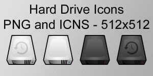Slick Hard Drive Icons by Zeptozephyr