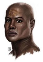 Teal'c Sketch by feliciacano
