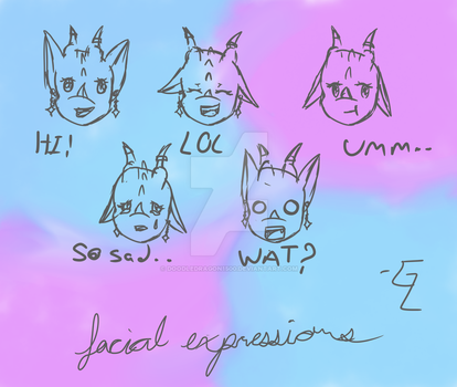 Sketchy Facial Expressions for Glyph by doodledragon1500