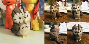 Owlicious Clay Figure by nicolaykoriagin