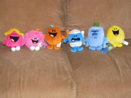 Mr. Men Small Plushies Pic 1 by Drarin1