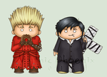 Trigun Chibis by MythicPhoenix