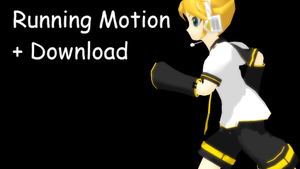 MMD Running Motion + DL by Daiana-kagamine