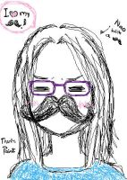 Nao with a Moustache by vmxk