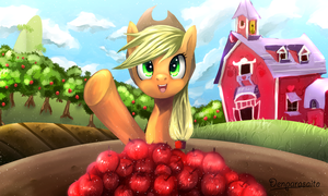 Applejack!! by DenpaRasaito