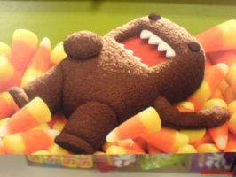 Domo Laying on Candy Corn by crazyazianfosho