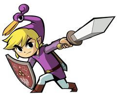 Minish Cap Link - Purple by lainsnavi