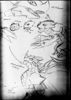 Digimon evolution sketches by DrackeStalenTorgen