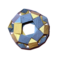 Origami Flat Sonobe Buckyball 2.0 by human-chaos
