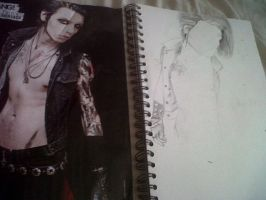 Andy Biersack in progress by holalillian